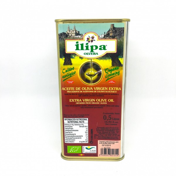 Lata Aceite Oliva Virgen Extra Ecológico 0,5L