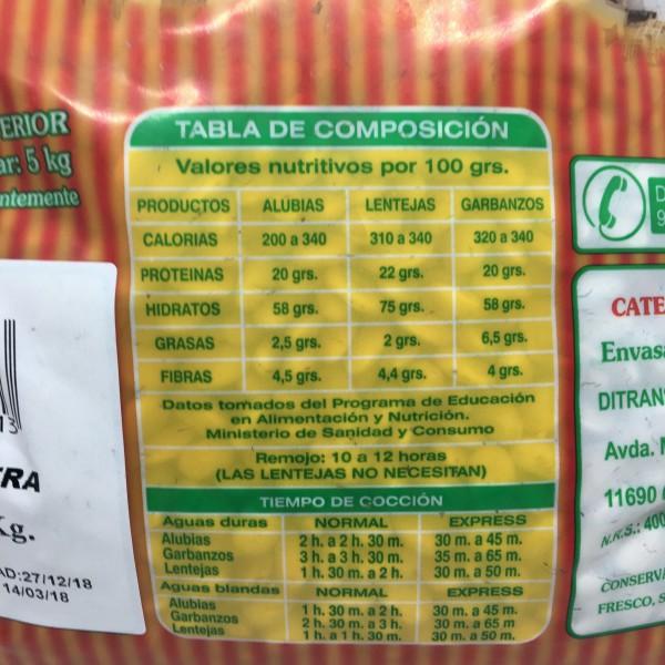 Alubia Frijol Extra 3kg